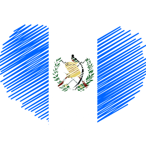 Guatemala Flag Heart